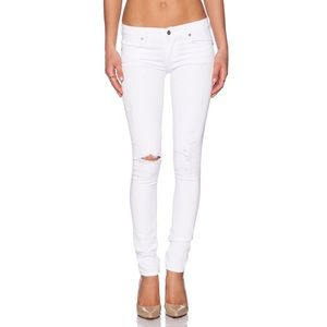 COH Avedon low rise skinny destroyed white jeans